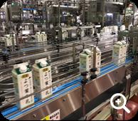 Milk carton with screw cap manufacturing scene