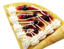 クリームチーズとブルーベリーのクレープ