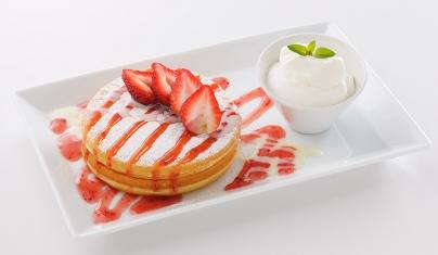 練乳いちごのパンケーキ