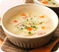 根菜入りミルクスープ