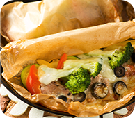豚ヒレ肉と野菜の紙包み焼き