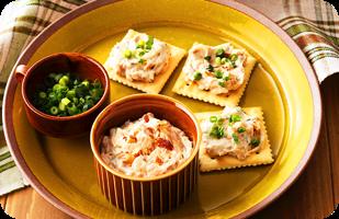 チーズスプレッドとツナのディップソース