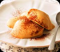 チーズスプレッドコーヒー風味パンナコッタ