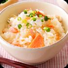 チーズと塩鮭の混ぜご飯