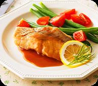 白身魚のムニエルバター醤油ソース