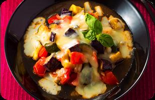 3種のチーズの焼きカポナータ